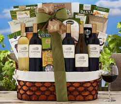 Christmas Wine Baskets