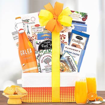 Blood Orange Mimosa Sparkling Wine Basket