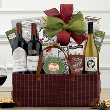 Red and White Wine Trio Basket