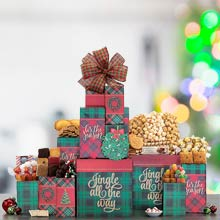 Happy Holiday Gift Tower