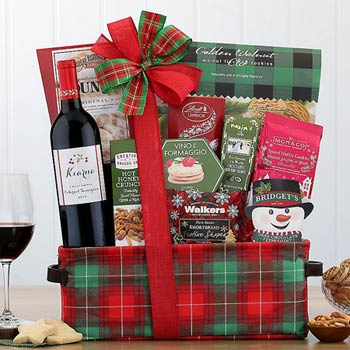 Holiday Wine Christmas Basket
