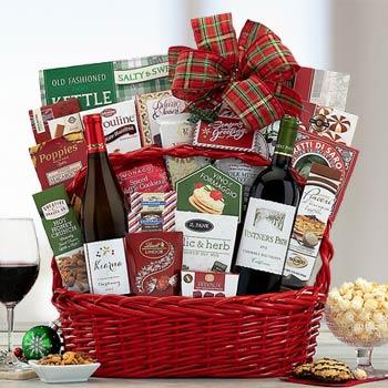 Executive Christmas Wine Gift Basket