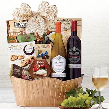 Corporate Snack Wine Basket