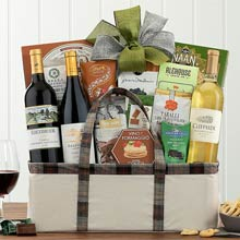 Corporate Elegance Holiday Wine Basket