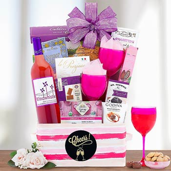 Wine Gift Basket for Her