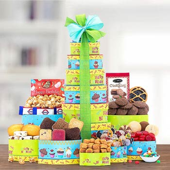 Birthday Wishes Gift Tower
