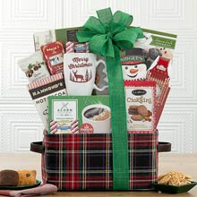 Santas Snacks Christmas Basket