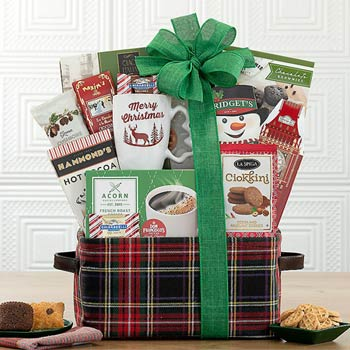 Santa's Snacks Christmas Basket