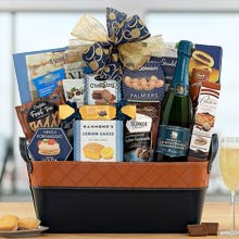 New Years Champagne Basket