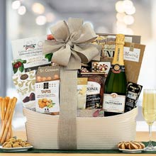 French Champagne Basket