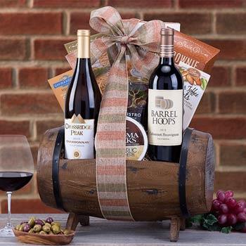 Gourmet Snack Wine Gift Basket