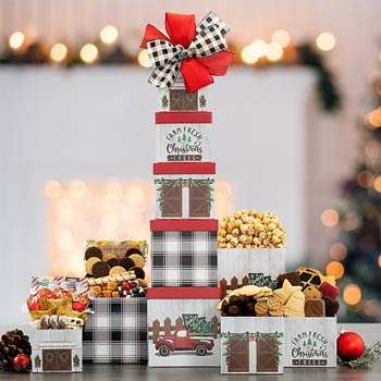 Christmas Holiday Snack Tower