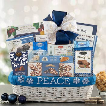 Holiday Wishes Christmas Basket