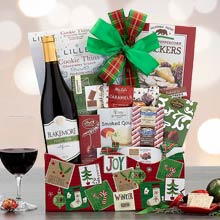 Holiday Wishes Wine Basket