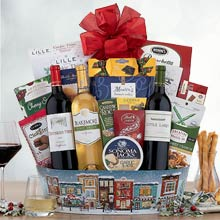Gourmet Holiday Wine Basket