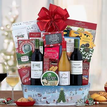 Gourmet Holiday Wine Basket