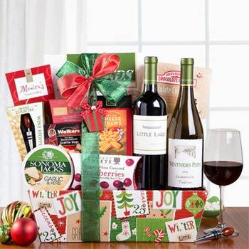 Business Christmas Wine Basket