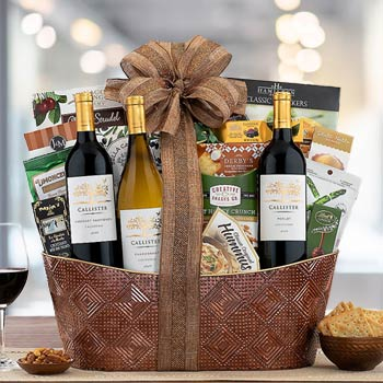 Business Gourmet Wine Gift Basket