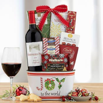 Holiday Cheer Wine Basket