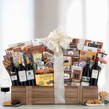 Gourmet Thank You Wine Basket