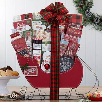 Holiday Sleigh Gift Basket