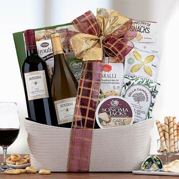 Red and White Wine Duo Basket