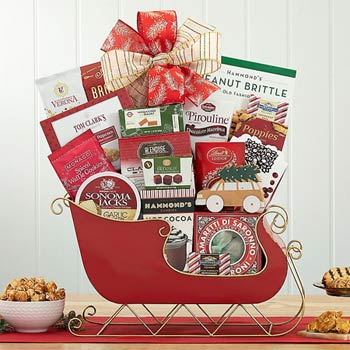 Santas Coming to Town Gift Sleigh