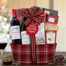 Seasons Greetings Wine Basket