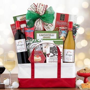 Christmas Cheer Wine Gift Basket