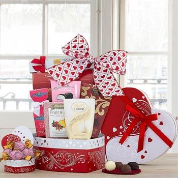 Valentine Holiday Gift Basket