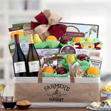 Napa Valley Fruit and Wine Basket