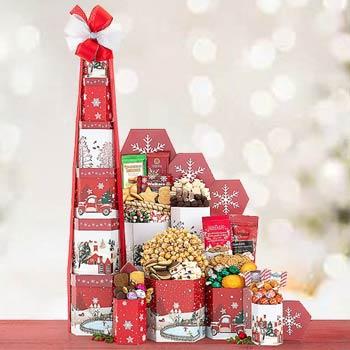 Elegant Snack Gift Tower