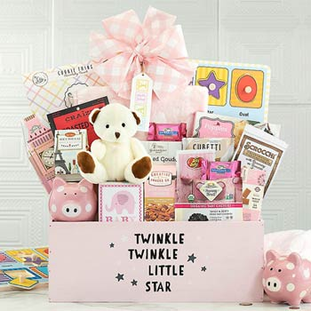 Baby Girl Gourmet Basket