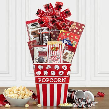 Popcorn Mania Snack Basket