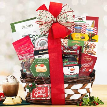 Festive Holiday Gift Basket