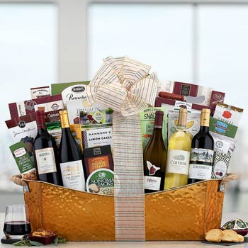 Elegant Corporate Wine Basket