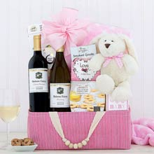 Baby Girl Shower Basket