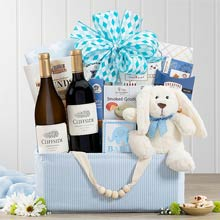 Baby Boy Shower Basket