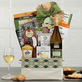 Gourmet Wine Golf Basket
