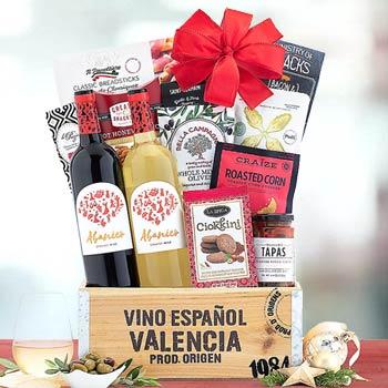 Spanish Wine Gift Basket