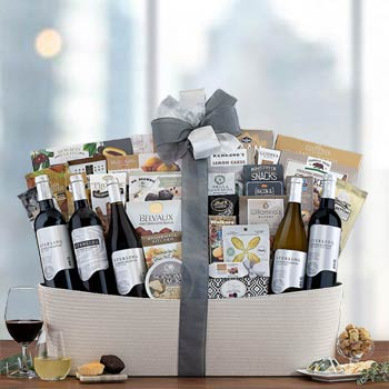 Sterling Deluxe Wine Basket
