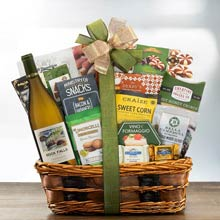 Wine and Snacks Gift Basket