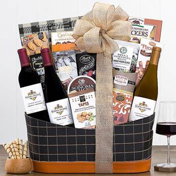 Elegant Wine Gift Basket