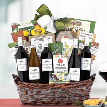 Gourmet Connoisseur Wine Gift Basket