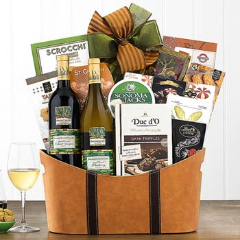 Business Wine Gift Basket