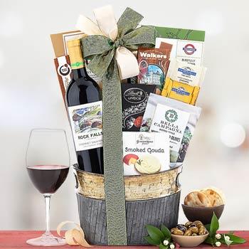 Wine and Gourmet Snacks Basket