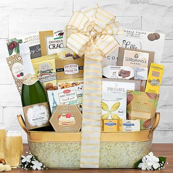 Elegant Business Champagne Gift Basket