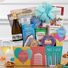 Gourmet Birthday Wine Basket