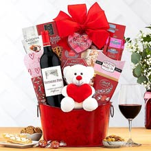Romantic Wine Basket