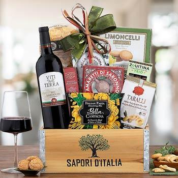 Italian Treats and Wine Basket